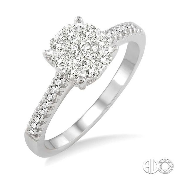 1/2 Ctw Lovebright Diamond Engagement Ring in 14K White Gold Grogan Jewelers Florence, AL