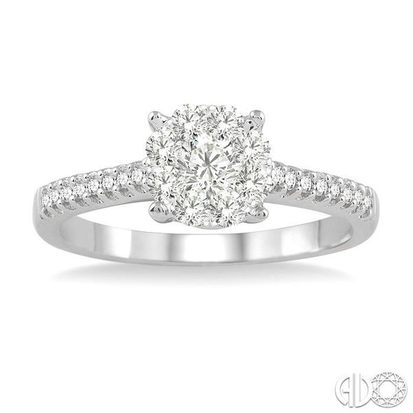 1/2 Ctw Lovebright Diamond Engagement Ring in 14K White Gold Image 2 Grogan Jewelers Florence, AL