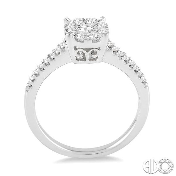 1/2 Ctw Lovebright Diamond Engagement Ring in 14K White Gold Image 3 Grogan Jewelers Florence, AL