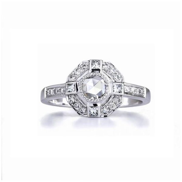 The Moderne Ring with White Diamonds in White Gold Grogan Jewelers Florence, AL