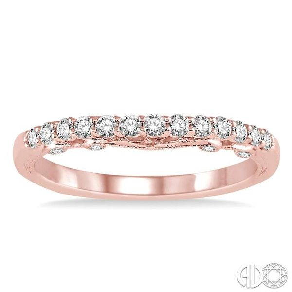1/3 Ctw Round Cut Diamond Wedding Band in 14K Rose Gold Image 2 Grogan Jewelers Florence, AL