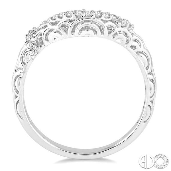 1/6 Ctw Round Cut Diamond Wedding Band in 14K White Gold Image 3 Grogan Jewelers Florence, AL