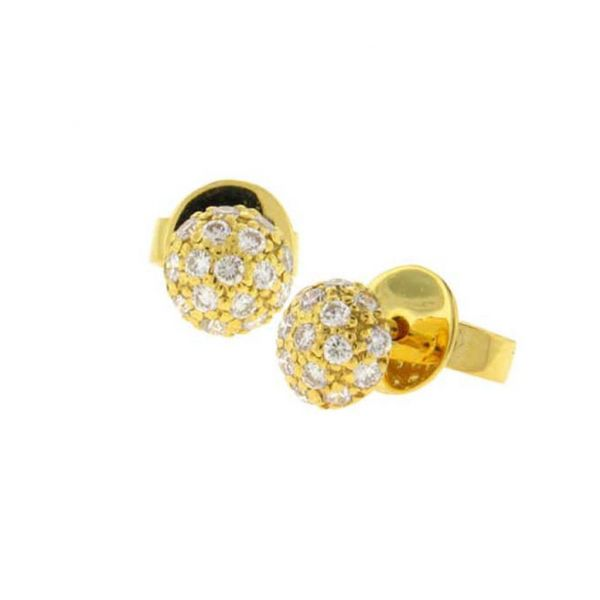 Disco Earrings in Yellow Gold Grogan Jewelers Florence, AL