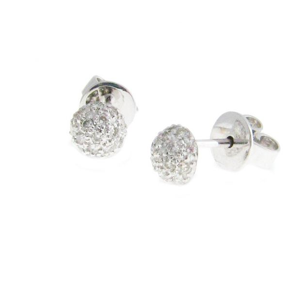 Disco Earrings in White Gold Grogan Jewelers Florence, AL