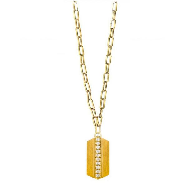 The Maya Long Necklace in Yellow Gold Grogan Jewelers Florence, AL