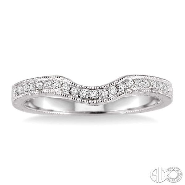 1/6 Ctw Round Cut Diamond Matching Wedding Band in 14K White Gold Image 2 Grogan Jewelers Florence, AL