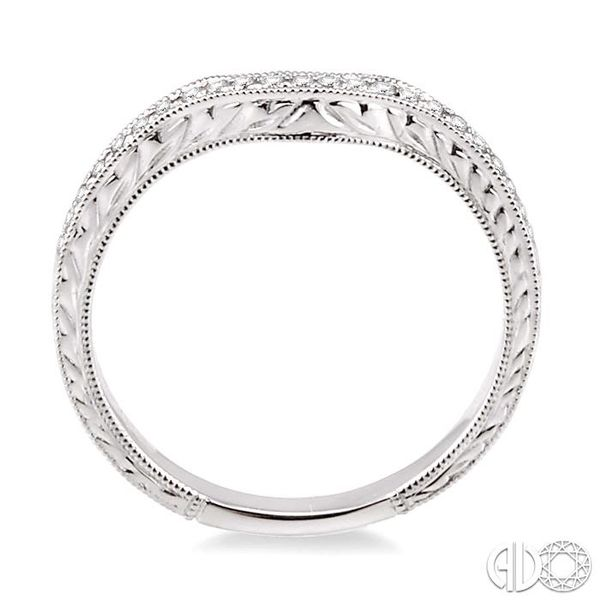 1/6 Ctw Round Cut Diamond Matching Wedding Band in 14K White Gold Image 3 Grogan Jewelers Florence, AL