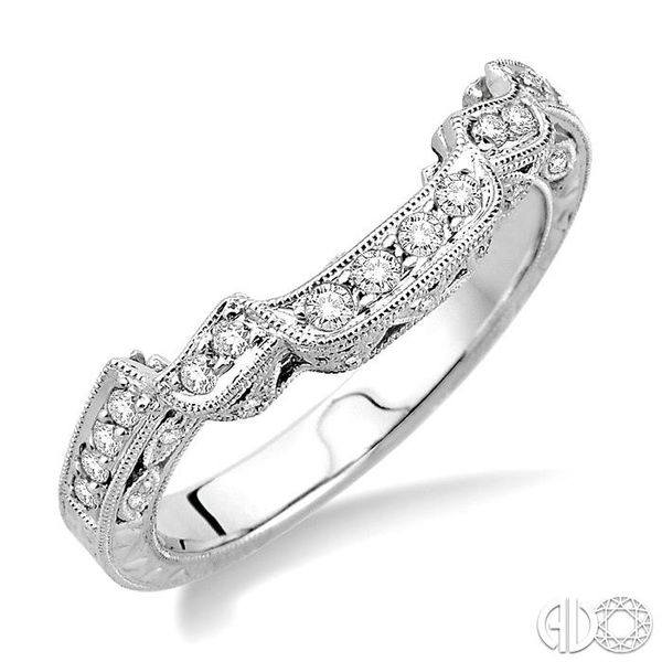 1/4 Ctw Diamond Matching Wedding Band in 14K White Gold Grogan Jewelers Florence, AL