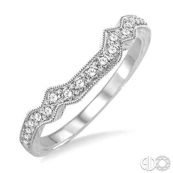 1/3 Ctw Diamond Matching Wedding Band in 14K White Gold Grogan Jewelers Florence, AL
