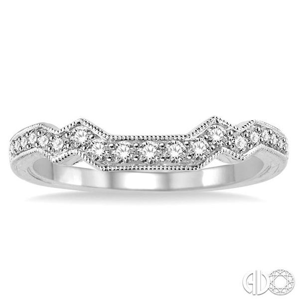 1/3 Ctw Diamond Matching Wedding Band in 14K White Gold Image 2 Grogan Jewelers Florence, AL