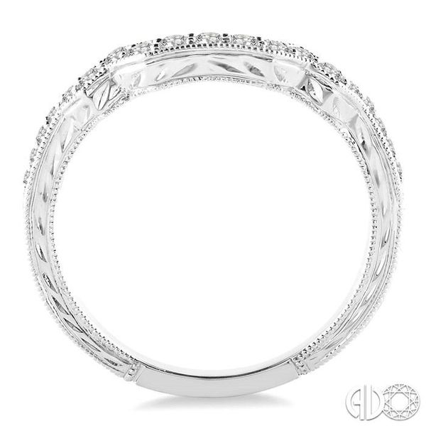 1/3 Ctw Diamond Matching Wedding Band in 14K White Gold Image 3 Grogan Jewelers Florence, AL