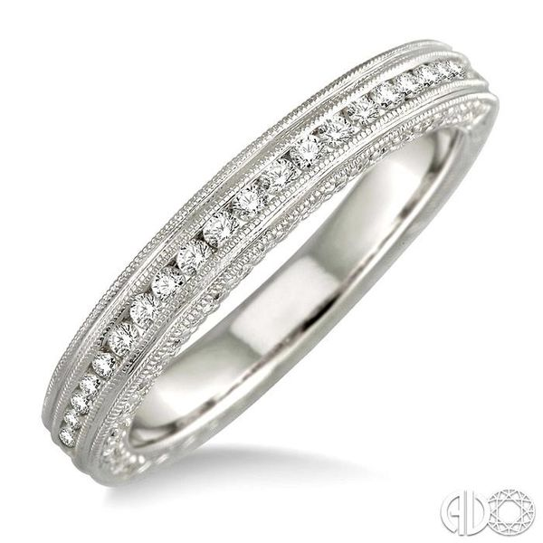 5/8 Ctw Diamond Matching Wedding Band in 18K White Gold Grogan Jewelers Florence, AL
