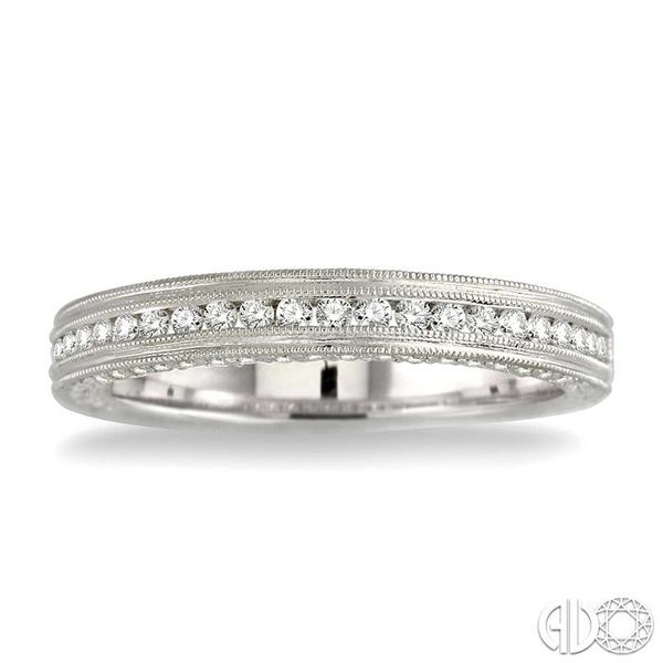 5/8 Ctw Diamond Matching Wedding Band in 18K White Gold Image 2 Grogan Jewelers Florence, AL
