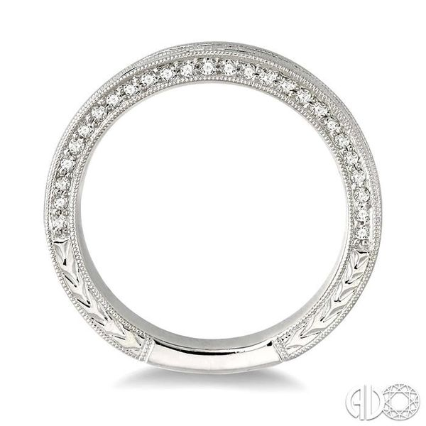 5/8 Ctw Diamond Matching Wedding Band in 18K White Gold Image 3 Grogan Jewelers Florence, AL