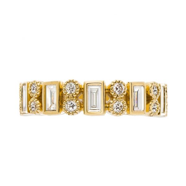 The Modern Heritage with White Diamonds in Yellow Gold Grogan Jewelers Florence, AL
