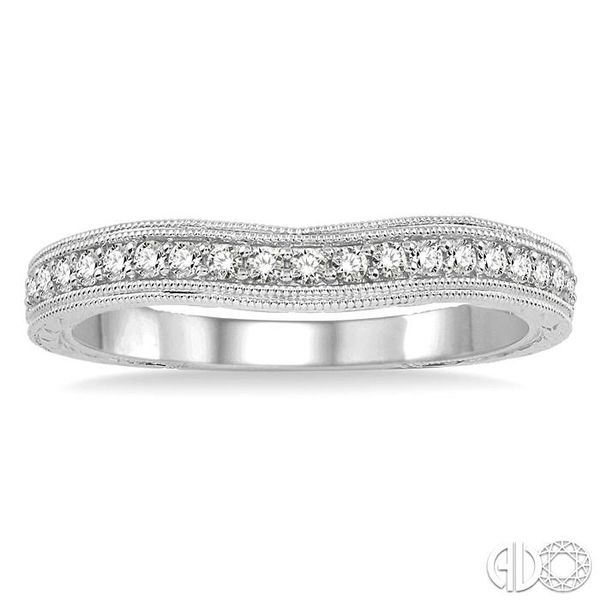 1/5 Ctw Round Cut Diamond Wedding Band in 14K White Gold Image 2 Grogan Jewelers Florence, AL
