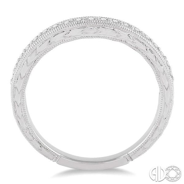 1/5 Ctw Round Cut Diamond Wedding Band in 14K White Gold Image 3 Grogan Jewelers Florence, AL