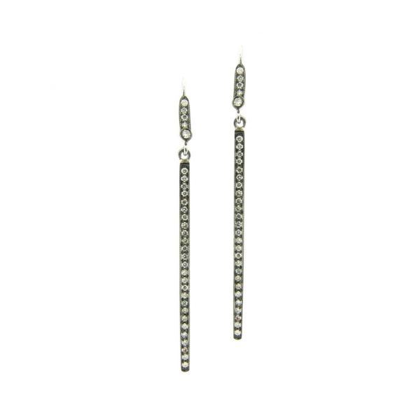 The Alice Earrings with White diamonds in White Gold and Black Rhodium Grogan Jewelers Florence, AL
