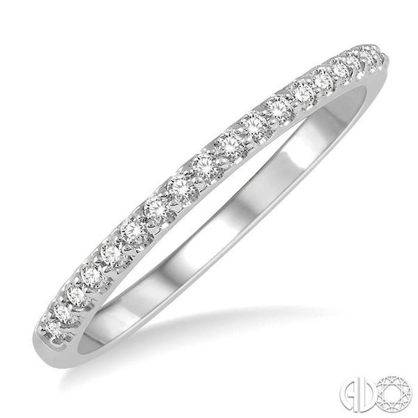 1/5 ct Round Cut Diamond Wedding Band in 14K White Gold Grogan Jewelers Florence, AL