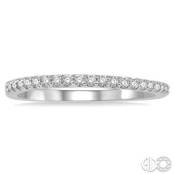 1/5 ct Round Cut Diamond Wedding Band in 14K White Gold Image 2 Grogan Jewelers Florence, AL