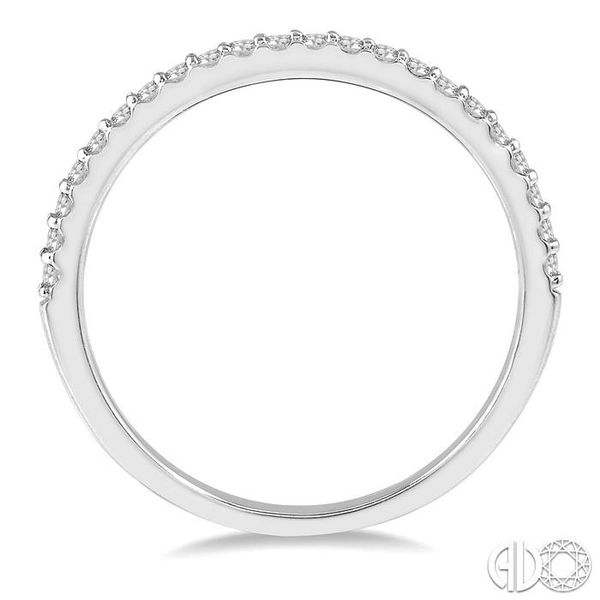 1/5 ct Round Cut Diamond Wedding Band in 14K White Gold Image 3 Grogan Jewelers Florence, AL