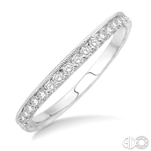 1/6 Ctw Round Cut Diamond Matching Wedding Band in 14K White Gold Grogan Jewelers Florence, AL