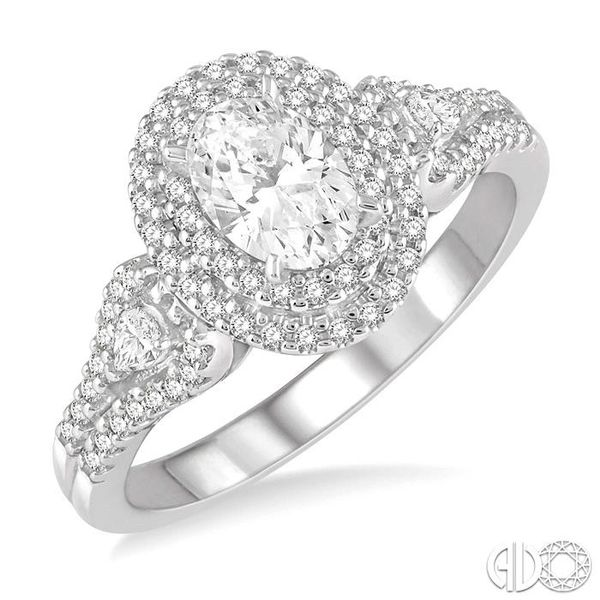 1 Ctw Oval Shape Diamond Engagement Ring in 14K White Gold Grogan Jewelers Florence, AL
