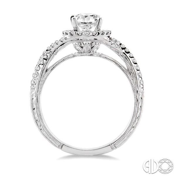 1 Ctw Diamond Engagement Ring with 5/8 Ct Round Cut Center Stone in 14K White Gold Image 3 Grogan Jewelers Florence, AL