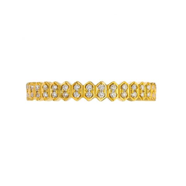 The Mini Abacus with White Diamonds in Yellow Gold Grogan Jewelers Florence, AL
