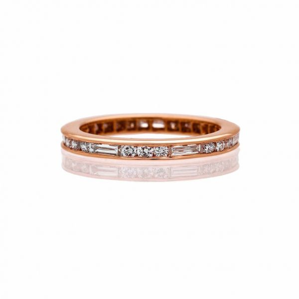 The Naomi Band with White Diamonds in Rose Gold Grogan Jewelers Florence, AL