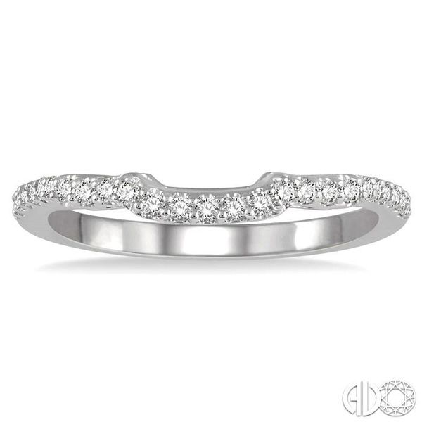 1/5 Ctw Curved Round Cut Diamond Wedding Band in 14K White Gold Image 2 Grogan Jewelers Florence, AL