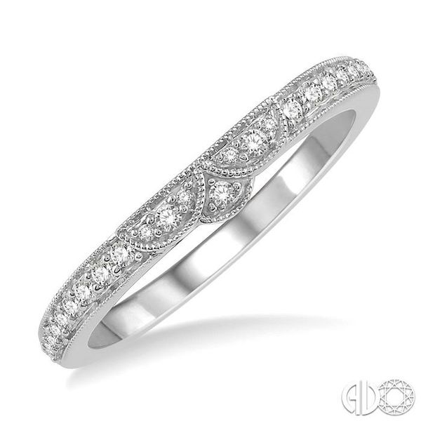 1/6 Ctw Tri Arc Center Round Cut Diamond Wedding Band in 14K White Gold Grogan Jewelers Florence, AL