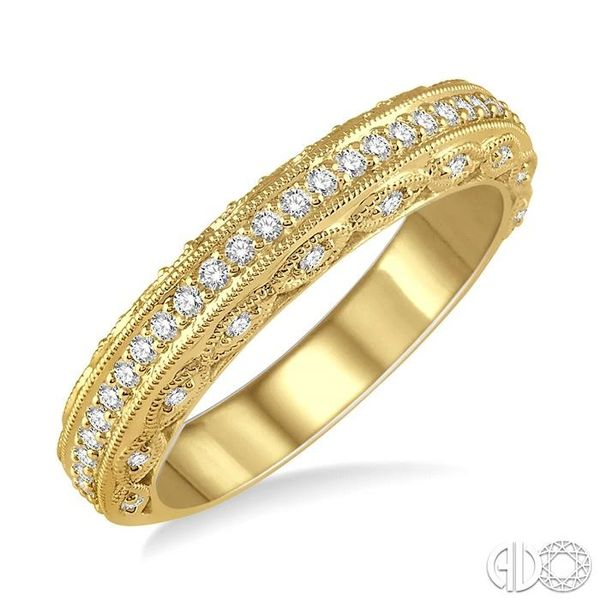 1/3 Ctw Round Cut Diamond Wedding Band in 14K Yellow Gold Grogan Jewelers Florence, AL
