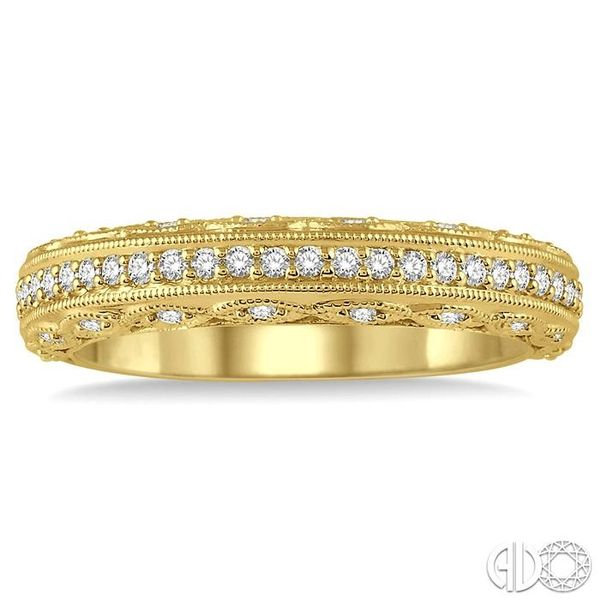 1/3 Ctw Round Cut Diamond Wedding Band in 14K Yellow Gold Image 2 Grogan Jewelers Florence, AL