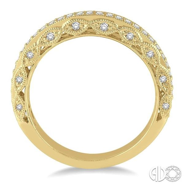 1/3 Ctw Round Cut Diamond Wedding Band in 14K Yellow Gold Image 3 Grogan Jewelers Florence, AL
