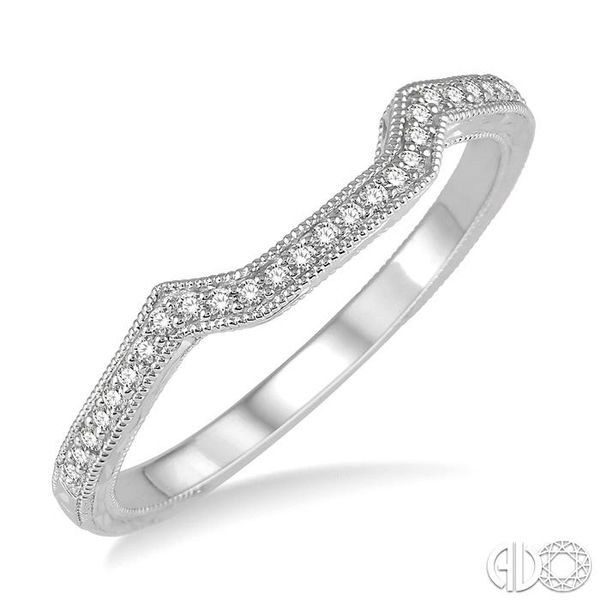 1/10 Ctw Round Diamond Wedding Band in 14K White Gold Grogan Jewelers Florence, AL