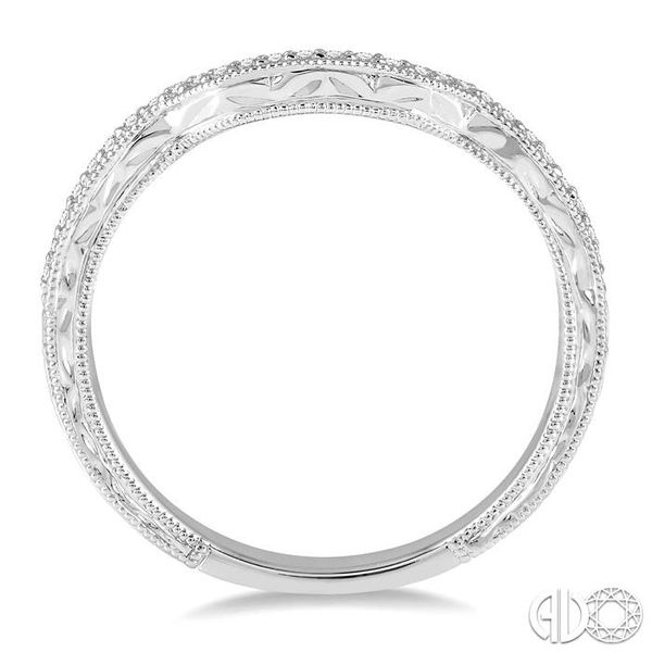 1/10 Ctw Round Diamond Wedding Band in 14K White Gold Image 3 Grogan Jewelers Florence, AL