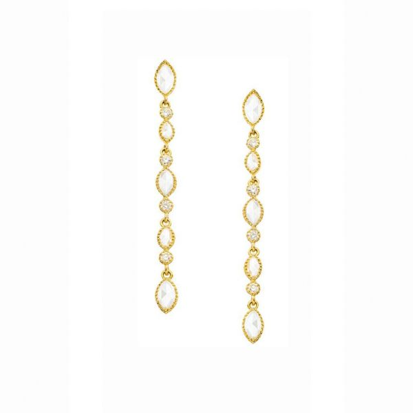 The Amara Earrings in Yellow Gold Grogan Jewelers Florence, AL
