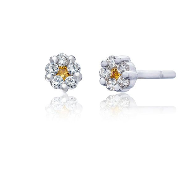 The Rosetta Earrings in White Gold Grogan Jewelers Florence, AL