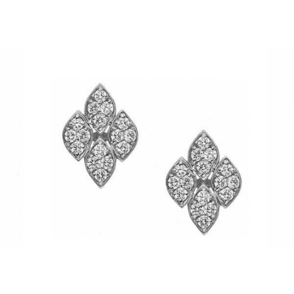 The Darcy Earrings in White Gold Grogan Jewelers Florence, AL