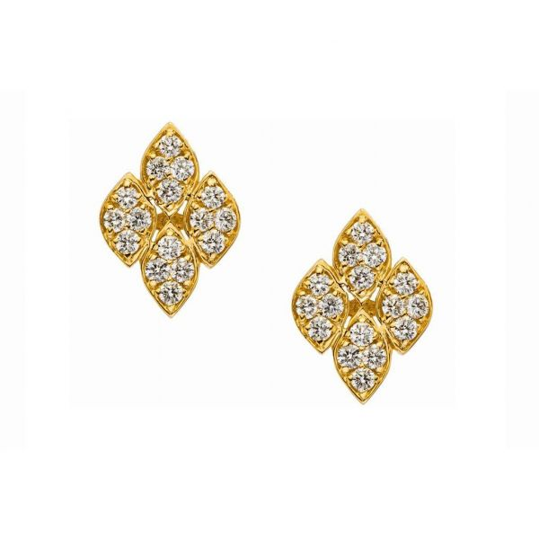 The Darcy Earrings in Yellow Gold Grogan Jewelers Florence, AL