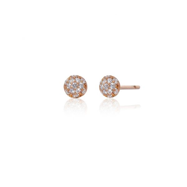 Disco Mini Earrings in Rose Gold Grogan Jewelers Florence, AL