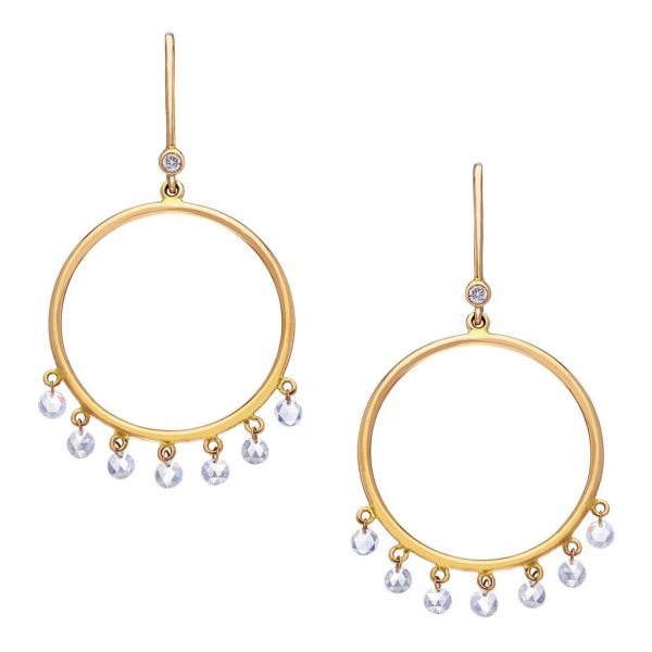 The Cien Circle Earrings in Yellow Gold Grogan Jewelers Florence, AL