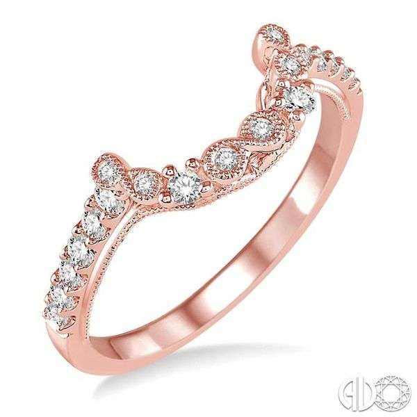 1/4 Ctw Round Cut Diamond Wedding Band in 14K Rose Gold Grogan Jewelers Florence, AL