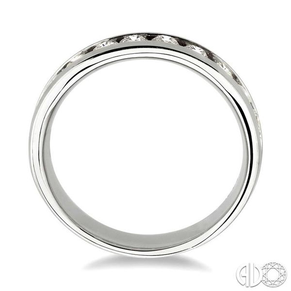 3/4 Ctw Round Cut Diamond Wedding Band in 14K White Gold Image 3 Grogan Jewelers Florence, AL