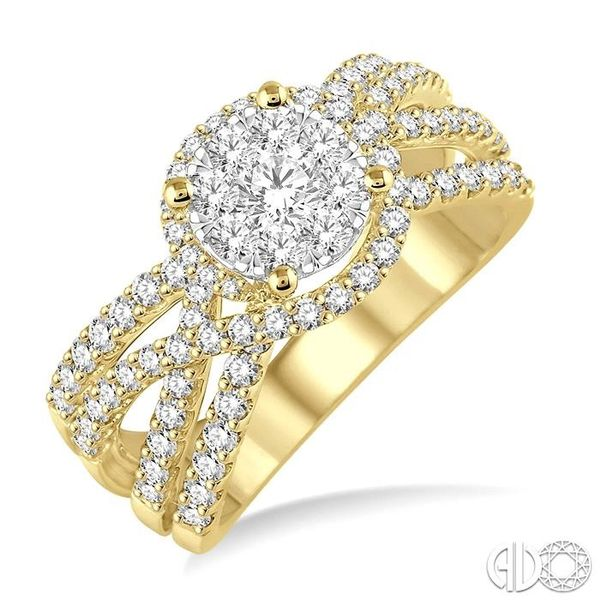 1 Ctw Diamond Lovebright Ring in 14K Yellow and White Gold Grogan Jewelers Florence, AL