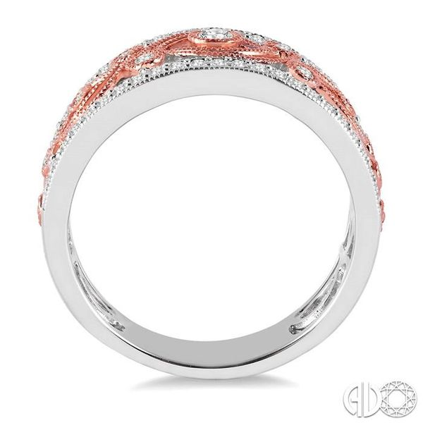 1/2 Ctw Round Cut Diamond Fashion Band in 14K White and Rose/Rose Gold Image 3 Grogan Jewelers Florence, AL