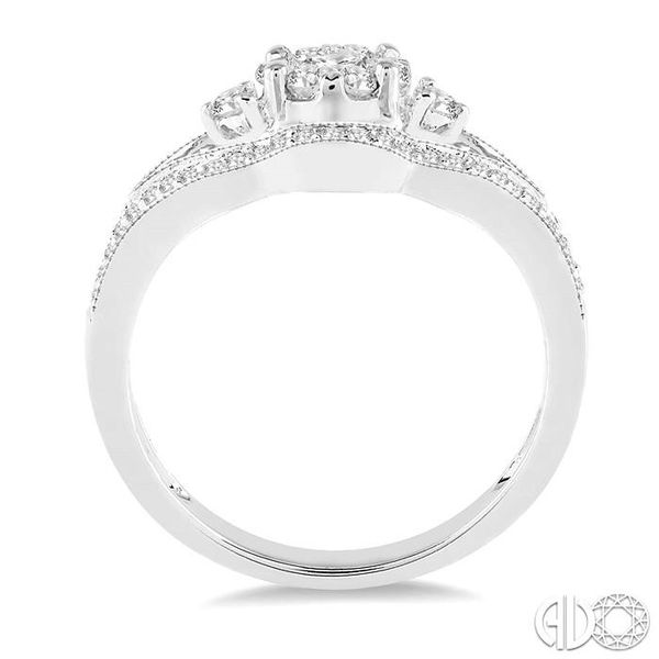 1/2 Ctw Round Cut Diamond Lovebright Ring in 14K White Gold Image 3 Grogan Jewelers Florence, AL