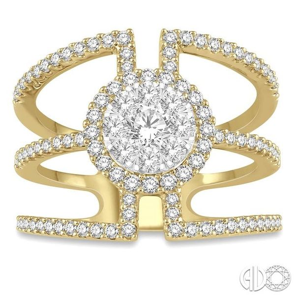 1 Ctw Round Shape Mount Lovebright Round Cut Diamond Ring in 14K Yellow and White Gold Image 2 Grogan Jewelers Florence, AL