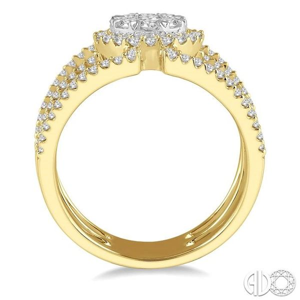 1 Ctw Round Shape Mount Lovebright Round Cut Diamond Ring in 14K Yellow and White Gold Image 3 Grogan Jewelers Florence, AL